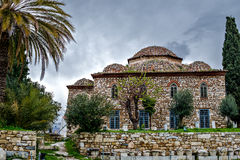 Byzantine church. Medieval Byzantine church of historical monuments Royalty Free Stock Images