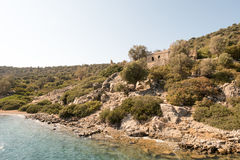Byzantine church and monastery with mosaic in Aegean sea, Turkey Royalty Free Stock Photos