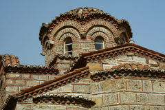 Byzantine church in Mystra Royalty Free Stock Photography
