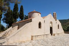 Byzantine Church Panagia Kera in Kritsa Stock Photos
