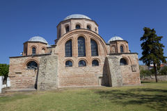 The Byzantine church of Panagia Kosmosoteira. stock image