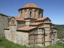 Byzantine church - Peloponnese Greece. Royalty Free Stock Image