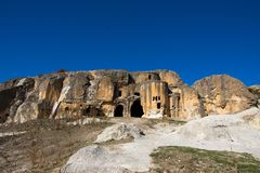 Byzantine church in the Phrygian valley Turkey. Old cave Byzantine church in the Phrygian valley in Afyon, Turkey Stock Photography