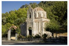 Byzantine Church in Rhodes, Greece. Royalty Free Stock Photography