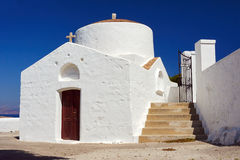Byzantine church. In the town of Lindos in Rhodes royalty free stock images