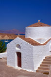 Byzantine church. In the town of Lindos in Rhodes royalty free stock photos