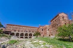 Byzantine city of Mystras, Peloponnes, Greece Royalty Free Stock Photography