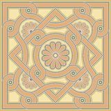 Byzantine decorative rosette Royalty Free Stock Photo