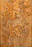 Byzantine designs. On Orthodox wooden church door stock image