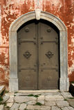 Byzantine door. Rotonda's door, Thessaloniki royalty free stock photography