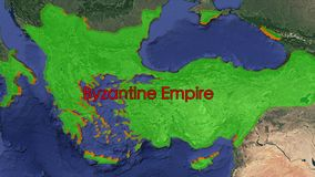 Byzantine empire inscribed map