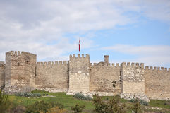 Byzantine Fortress. Old byzantine fortress in Turkey against the blue sky Stock Image