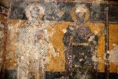 Byzantine Fresco. At Agios Spyridon temple at Plaka area Athens Royalty Free Stock Photography