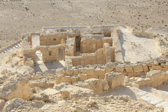 Byzantine House in Avdat Ancient, the Nabatean City Stock Image