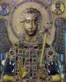 Byzantine icon mosaic in the Basilica of Saint Mark Stock Image