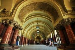 Byzantine interior in Romanian museum. The gigantic Byzantine interior of the Union Hall in Alba Iulia, Romania royalty free stock photos