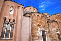 Zeyrek Mosque, the former church of Christ Pantokrator in modern Istanbul. The byzantine monastery of the Christ Pantokrator, now Zeyrek Mosque in modern royalty free stock photos