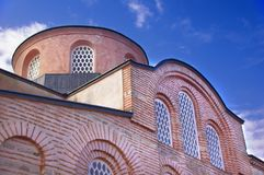 Zeyrek Mosque, the former church of Christ Pantokrator in modern Istanbul. The byzantine monastery of the Christ Pantokrator, now Zeyrek Mosque in modern royalty free stock photography