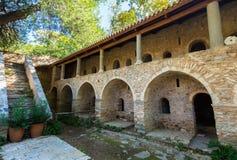 Byzantine monastery in Kaisariani, Athens Stock Image