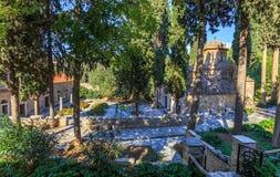 Byzantine monastery in Kaisariani, Athens Stock Photo