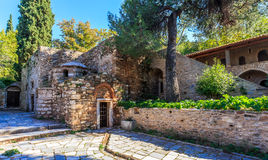 Byzantine monastery in Kaisariani, Athens Royalty Free Stock Images