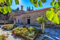 Byzantine monastery in Kaisariani, Athens Stock Photos