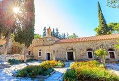 Byzantine monastery in Kaisariani, Athens Royalty Free Stock Image