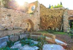 Byzantine monastery in Kaisariani, Athens Stock Images