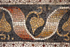 Byzantine mosaic. From Great Palace Mosaic Museum, Istanbul, Turkey royalty free stock images