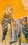 Byzantine mosaic of Archangel Gabriel in Hagia Sophia royalty free stock image