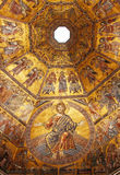 Byzantine mosaic in baptistery in Florence Royalty Free Stock Images