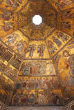 Byzantine mosaic in baptistery in Florence Stock Photography