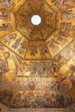 Byzantine mosaic in baptistery in Florence Royalty Free Stock Image