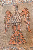 Byzantine mosaic of an eagle and a dove Stock Photography