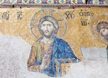 Byzantine mosaic in Hagia Sophia in Istanbul, Turkey Stock Photos