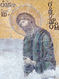 Byzantine mosaic in the Hagia Sophia in Istanbul, Turkey Royalty Free Stock Images