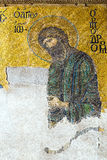 Byzantine mosaic in the interior of Hagia Sophia in Istanbul, Tu stock photography
