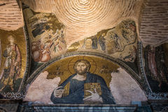 Byzantine mosaic in Istanbul Stock Images
