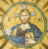 Byzantine Mosaic of Jesus Christ stock photos
