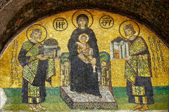 Byzantine mosaic of 13th century in Hagia Sophia in Istanbul Stock Image
