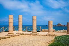 Byzantine period on Mediterranean coast Royalty Free Stock Image