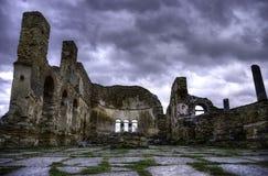 Byzantine ruins. Ruins of a Byzantine church stock photos