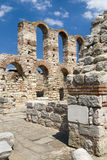 St Sophia church ruins in Nessebar, Bulgaria Royalty Free Stock Images