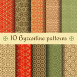Byzantine seamless patterns set. Vector illustration Royalty Free Stock Images