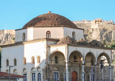 Temple in Athens. Ancient architectural monument is part of the Acropolis in Athens Stock Photos