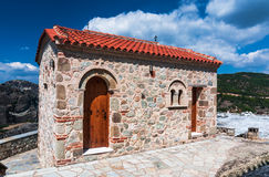 Chapel on Meteora, Greece royalty free stock photography
