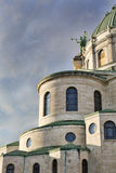 Byzantine style church in Western New York. At dusk on a mid-Autumn afternoon royalty free stock images