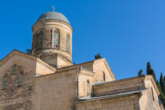 Byzantine style old temple exterior, New Athos Royalty Free Stock Photography