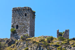 Byzantine tower at Samothraki island Royalty Free Stock Photo