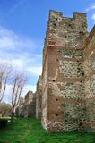 Byzantine towers in Thessalonica Thessaloniki - Greece Stock Image